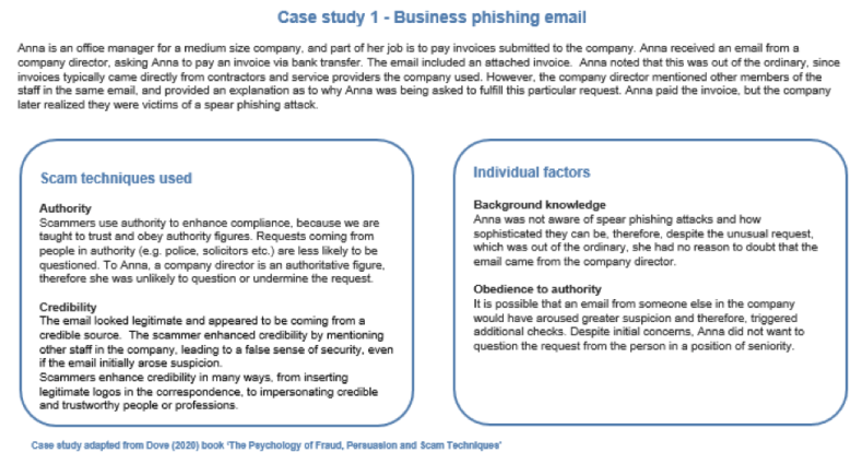 Case Study 1 Business phishing email