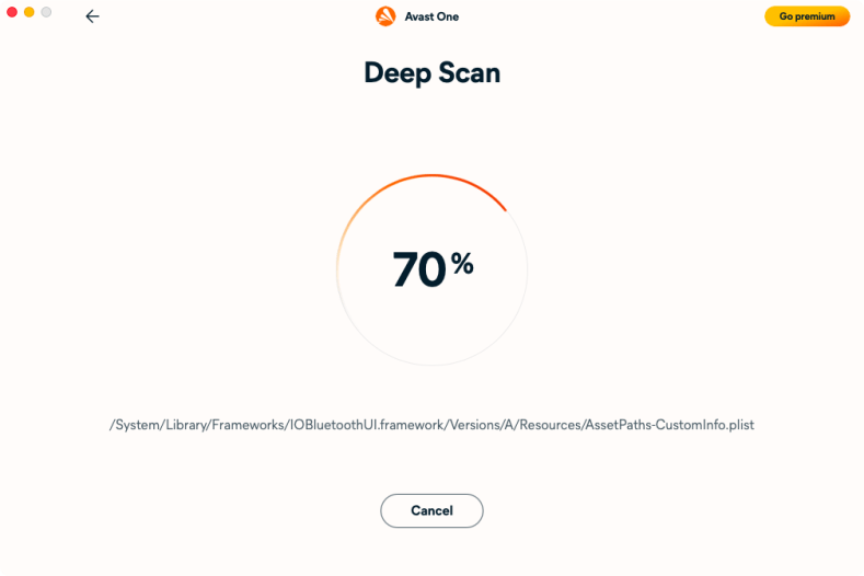 Avast One Essential for Mac Malware Scan
