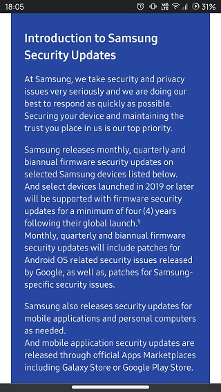 Samsung-monthly-quarterly-biannual-Android-security-updates