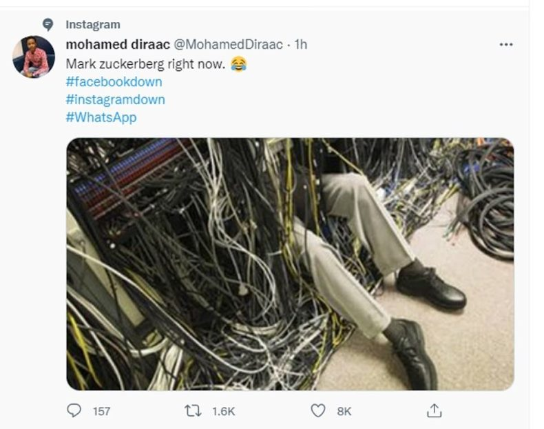 Twitter users also took aim at Mark Zuckerberg by joking that he was trying to fix the problems himself
