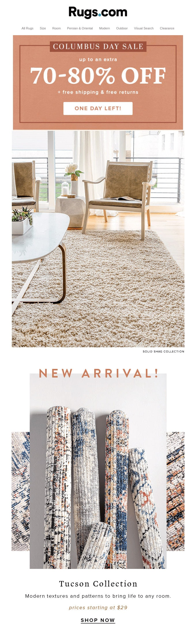 Email Design from Rugs