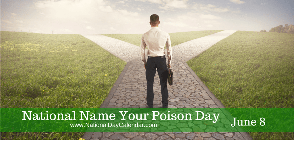National Name Your Poison Day June 8 National Day Calendar