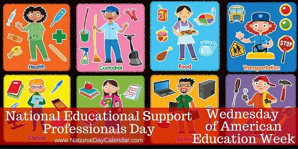 NATIONAL EDUCATION SUPPORT PROFESSIONALS DAY – Wednesday ...
