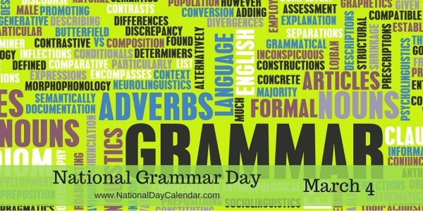 National Grammar Day - March 4
