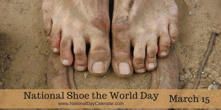National Shoe the World Day - March 15
