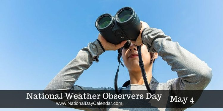 National Weather Observers Day May 4