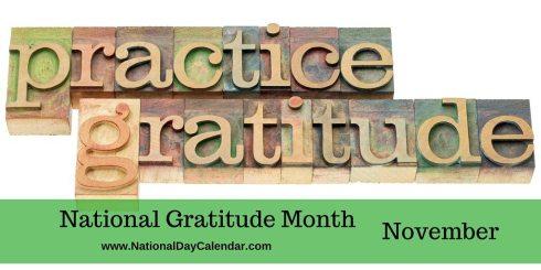 National Gratitude Month November