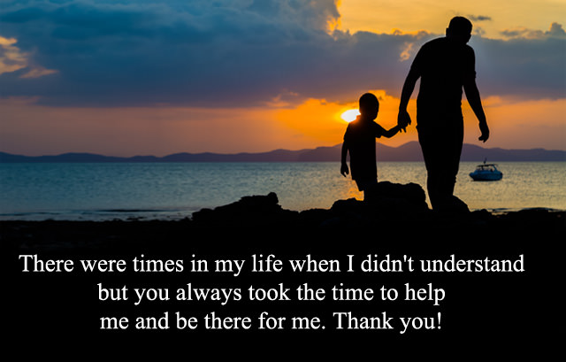 Thank You Daddy English Quote