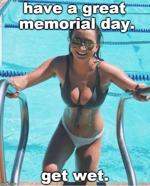 get wet bikini meme
