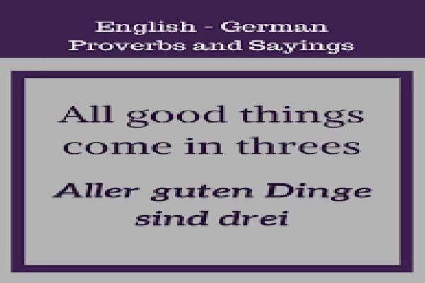German Language Day proverbs