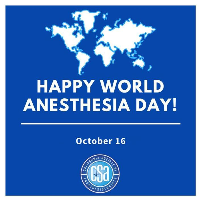 Happy World Anesthesia Day