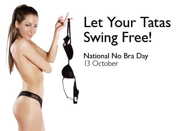 National No Bra Day images