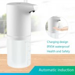 Dozator de sapun automat, fara contact,  cu infrarosu, TarTek, 350ml, incarcare USB, acumulator incorporat, Alb
