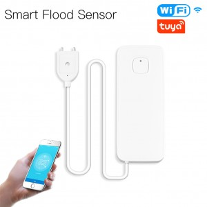 Senzor de inundatie WiFi TarTek Smart , 2 x AAA, Alb