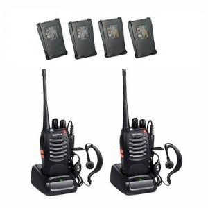 Set 2 Statii radio portabile emisie receptie PROGRAMATE cu 2 acumulatori suplimentari, Walkie Talkie, Baofeng BF-888S, programate in banda de licenta LIBERA