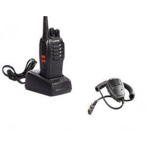 Statie radio portabila emisie receptie PROGRAMATA in banda de licenta libera, Walkie Talkie, Baofeng BF-888, cu microfon extern (speaker)