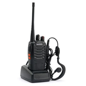 Statie radio portabila emisie receptie PROGRAMATA in banda de licenta libera, Walkie Talkie, Baofeng BF-888S cu casti incluse