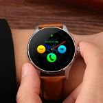 Ceas Smartwatch TC K88H Android si IOS, Metalic, Brown Edition