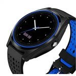 Ceas SmartWatch MediaTek™ V9H - Black & Blue Edition cu senzor PULS