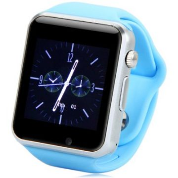 Ceas SmartWatch MediaTek™ A1 - Watch  Blue Edition - Telefon microSIM, microSD camera