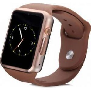 Ceas SmartWatch MediaTek™ A1 - Watch  Brown Edition, Telefon microSIM, microSD camera