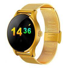 Ceas Smartwatch MediaTek™ K88H Android si IOS, Metalic, Gold Edition