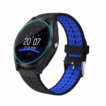 Ceas SmartWatch MediaTek™ V9 - Black & Blue Edition