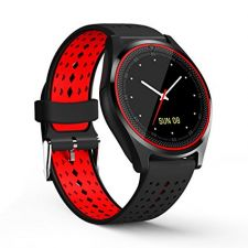 Ceas SmartWatch MediaTek™ V9 - Black & Red Edition