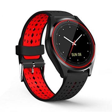 Ceas SmartWatch MediaTek™ V9 - Black & Red Edition
