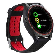 Ceas SmartWatch MediaTek™ V9H - Black & Red Edition cu senzor PULS