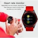 Ceas SmartWatch MediaTek™ V9H - Red Edition cu senzor PULS