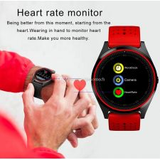 Ceas SmartWatch MediaTek™ V9H - Red Edition cu senzor PULS