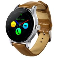 Ceas SmartwatchMediaTek™ K88H Android si IOS, Metalic, Brown Edition