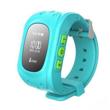 Ceas Telefon Smartwatch  monitorizare copii MediaTek™ Q50, Albastru cu GPS