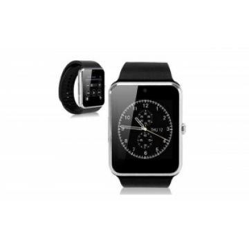 SmartWatch MediaTek™ GT08 telefon, camera, pedometru, bluetooth, microsim Silver Edition