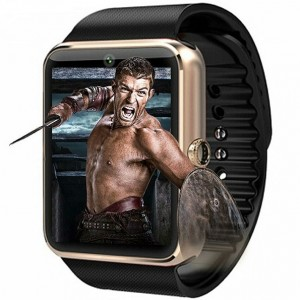 SmartWatch metalic MediaTek™ GT08 telefon camera pedometru bluetooth microsim (optional) Gold Edition