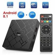 Android 8.1 Tv Box MediaTek HK1, Media Player, Quad-Core MediaTek, 2gb Ram,16gb Rom, WI-FI