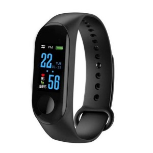 Bratara Fitness MediaTek M3 Fitness Band, Display OLED, Notificari, Pedometru, Bluetooth, Negru