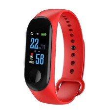 Bratara Fitness MediaTek M3 Fitness Band, Display OLED, Notificari, Pedometru, Bluetooth, Rosu
