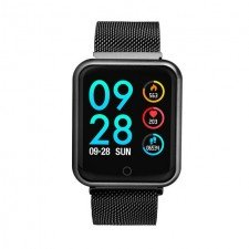Ceas Smart MediaTek M68 Black, senzor puls, tensiune arteriala