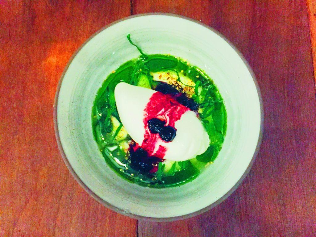 Dessert with cucumber at Vakst Copenhagen National Dish Review