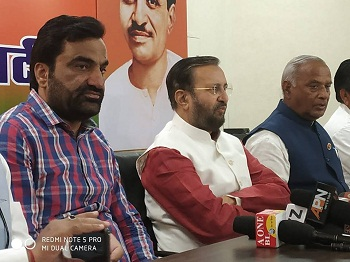 beniwal in bjp office with bjp leaders