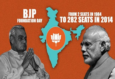 bjp foundation day 39-6-April 1980