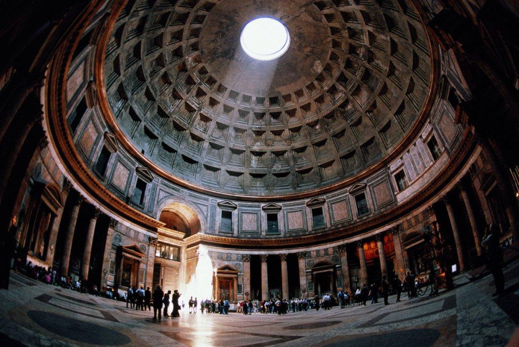 Roman Pantheon, made of concrete