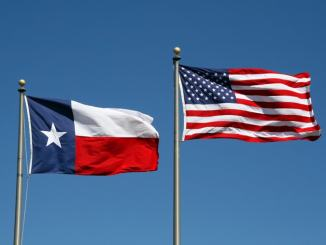 texas and US flag side by side