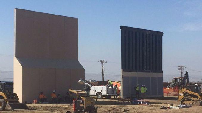 donald trump border wall prototype