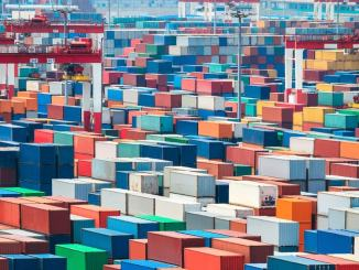 shipping containers embody foreign trade, which is causing the US trade deficit