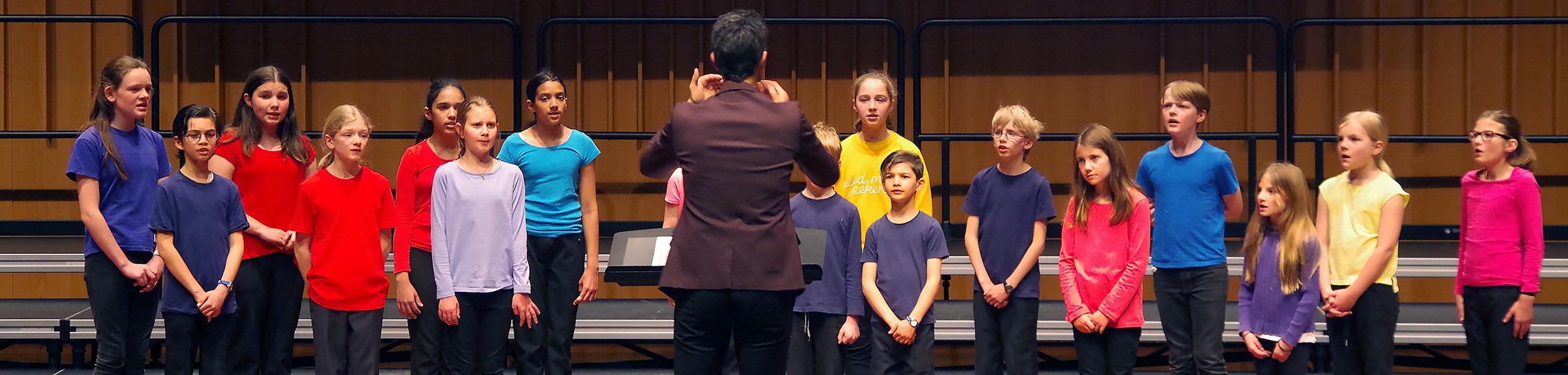 Choir performing.
