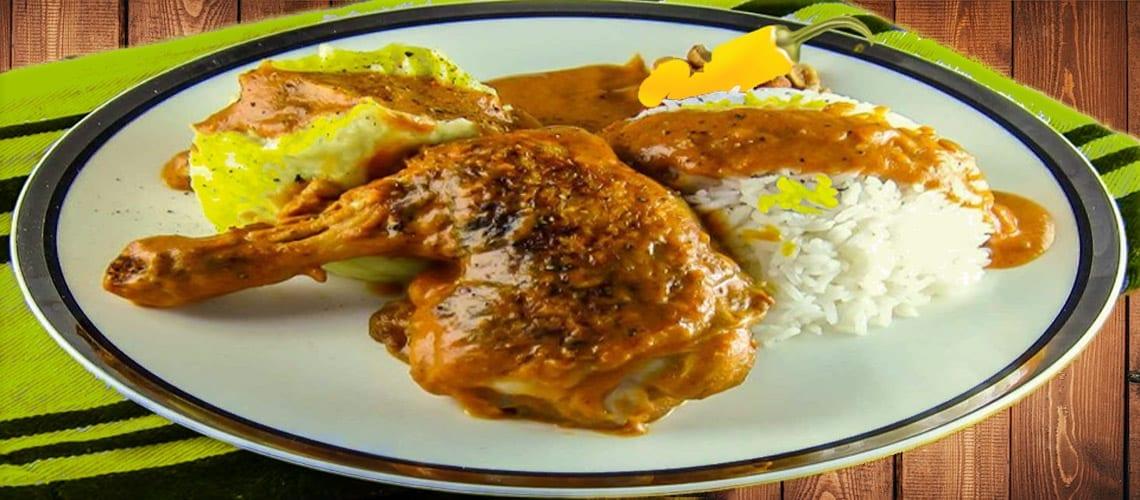 National Dish of Democratic Republic of Congo Poulet a la Moambe