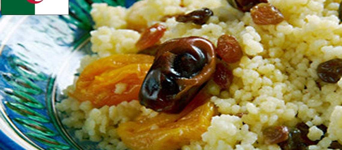National Dish of Algeria – Saffron and Raisin Couscous